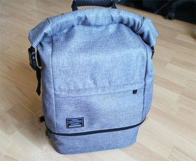 sac roll top gris